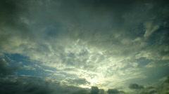 Moody grey sky Stock Footage