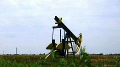 Rusty oil pump in action Stock Footage