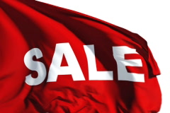 Sale flag Stock Footage