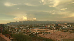 Timelapse Sunset of City of Tucson Arizona (HD) c Stock Footage