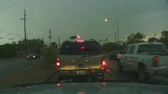 Powerful lightning strikes from a dashboard cam series 1 - 1 Stock Footage