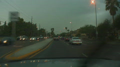 Powerful lightning strikes from a dashboard cam series 1 - 6 Stock Footage