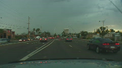 Powerful lightning strikes from a dashboard cam series 1 - 11 Stock Footage