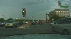 Powerful lightning strikes from a dashboard cam series 2 - 1 Stock Footage