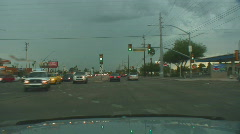 Powerful lightning strikes from a dashboard cam series 2 - 2 Stock Footage