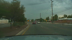 Powerful lightning strikes from a dashboard cam series 2 - 3 Stock Footage