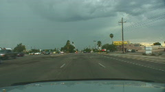 Powerful lightning strikes from a dashboard cam series 2 - 11 Stock Footage