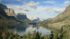 Glacier NP Wild Goose Island fast P HD 7762 Stock Footage