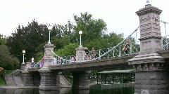 Bridge Boston Public Garden Stock Footage