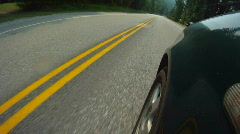 Time-lapse, fender mount POV drive on highway Stock Footage