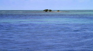 Ocean Island Beautiful Blue Waters  Stock Footage