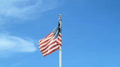 Desecrated American Flag With Black Bra Stock Footage