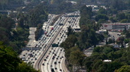 Traffic 15: Wide rush hour real time Stock Footage