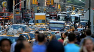 Crowded street, New York Stock Footage