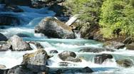 Stock Video Footage of Mountain stream waterfall P HD 0213