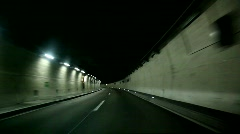 Car Driving In Tunnel - stock footage