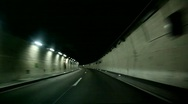 Car Driving In Tunnel Stock Footage