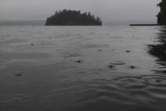 Lake surface in rain. SD. Stock Footage