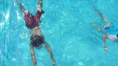 Kids Swimming Stock Footage