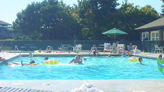 Pool Party Time Lapse Stock Footage