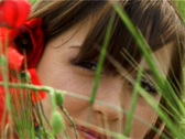 Girl in red Stock Footage