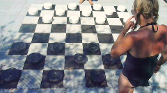 Big Checkers Game Time Lapse Stock Footage