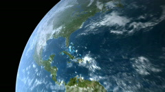 Zoom-out From North America to CG Earth Stock Footage