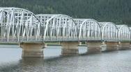 Steel bridge car crossing P HD 0120 Stock Footage