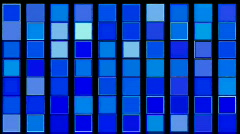 Flashing blue square background,mosaic,Box,cube,brick,toys,Jewelry,diamonds,deco - stock footage