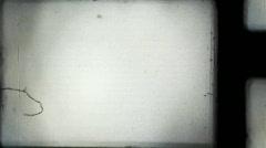 vintage 8mm film frame - stock footage