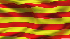 CATALONIA  Flag in wind in slow motion - stock footage