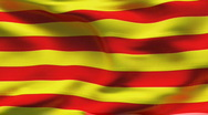 Stock Video Footage of CATALONIA  Flag in wind in slow motion