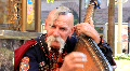 Old free Cossack (bandura player) HD Footage