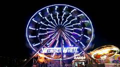 Crazy wonder wheel Stock Footage