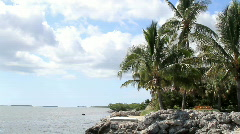 Tropical Island View Florida Keys Stock Footage