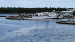 US Coast Guard Boat Stock Footage