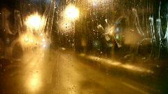 Street Car Rear Window - stock footage