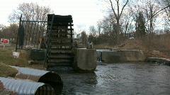 Water Wheel & Ducks - stock footage