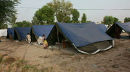 Stock Video Footage of Refugee Camp for Flood Victims in Sukkur, Pakistan