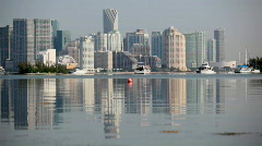 Tranquil Miami reflection Stock Footage