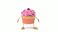 Stock Video Footage of Cupcake