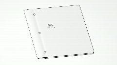 Portfolio Folder Opening Bluescreen Intro HD Stock Footage