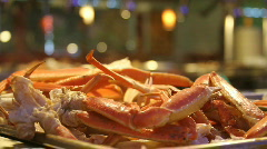 Steaming Hot Snow Crab Legs Stock Footage