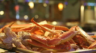 Stock Video Footage of Steaming Hot Snow Crab Legs