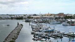 Marine Patrol Enters Harbor Stock Footage