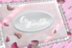 3902  Wedding Memories Bridal AlbumOpening with 3 blank pages Stock Footage