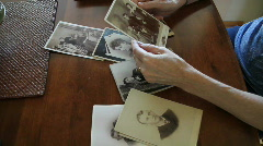 Old vintage photographs Stock Footage