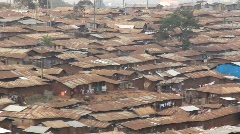 African slum in Nairobi Kenya - poverty, Aid, charity, hunger - stock footage