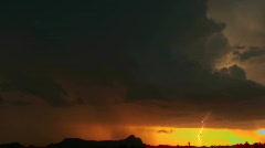 Lightning Sunset - stock footage