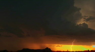 Stock Video Footage of Lightning Sunset